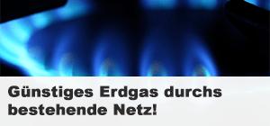 Günstiges Erdgas