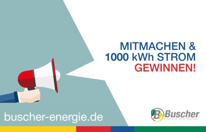 Mitmachen und 1000 kWh Strom Gewinnen